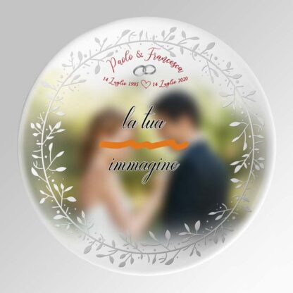 piatto nozze argento