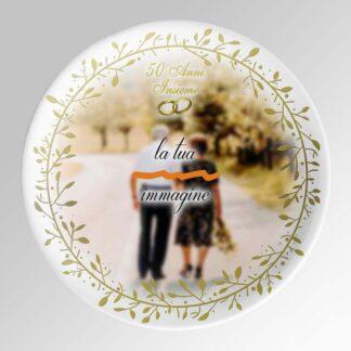piatto nozze oro